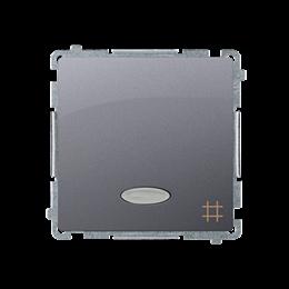 Łącznik krzyżowy z podświetleniem LED nie wymienialny kolor: niebieski (moduł) 10AX 250V, szybkozłącza, inox, metalizowany-25354