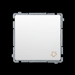 """Przycisk """"dzwonek"""" (moduł) 10AX 250V, szybkozłącza, biały-253566"""