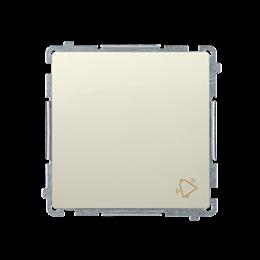 """Przycisk """"dzwonek"""" (moduł) 10AX 250V, szybkozłącza, beżowy-253567"""