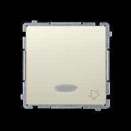 """Przycisk """"dzwonek"""" z podświetleniem LED nie wymienialny kolor: niebieski (moduł) 10AX 250V, szybkozłącza, beżowy-253588"""