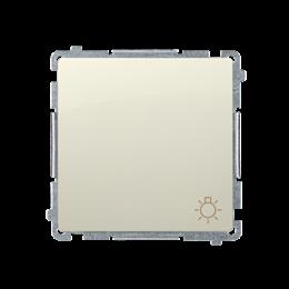 """Przycisk """"światło"""" (moduł) 10AX 250V, szybkozłącza, beżowy-253595"""