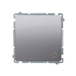 """Przycisk """"światło"""" (moduł) 10AX 250V, szybkozłącza, inox, metalizowany-253596"""