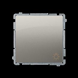 """Przycisk """"światło"""" (moduł) 10AX 250V, szybkozłącza, satynowy, metalizowany-253597"""