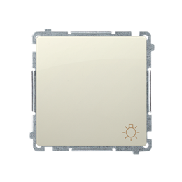 """Przycisk """"światło"""" (moduł) 16AX 250V, zaciski śrubowe, beżowy-253603"""