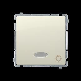 """Przycisk """"światło"""" z podświetleniem LED nie wymienialny kolor: niebieski (moduł) 10AX 250V, szybkozłącza, beżowy-253610"""