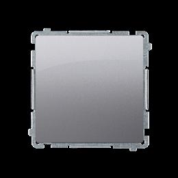 Przycisk pojedynczy zwierny bez piktogramu (moduł) 10AX 250V, szybkozłącza, inox, metalizowany-253626
