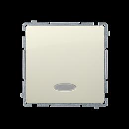Przycisk pojedynczy zwierny z podświetleniem LED nie wymienialny kolor: niebieski (moduł) 10AX 250V, szybkozłącza, beżowy-253632