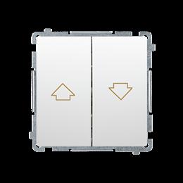 Przycisk żaluzjowy pojedynczy (moduł) 10A 250V, zaciski śrubowe, biały-253652