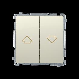 Przycisk żaluzjowy pojedynczy (moduł) 10A 250V, zaciski śrubowe, beżowy-253653
