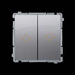 Przycisk żaluzjowy pojedynczy (moduł) 10A 250V, zaciski śrubowe, inox, metalizowany-253654