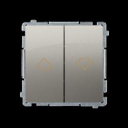 Przycisk żaluzjowy pojedynczy (moduł) 10A 250V, zaciski śrubowe, satynowy, metalizowany-253655