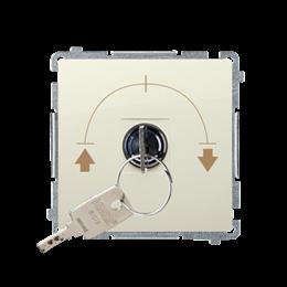Łącznik na kluczyk żaluzjowy chwilowy (moduł) 5A 250V, do lutowania, beżowy-253720
