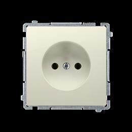 Gniazdo wtyczkowe podjedyncze bez uziemienia z przesłonami torów prądowych beżowy 16A-253827