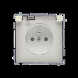 Gniazdo wtyczkowe pojedyncze w wersji IP44 -  klapka w kolorze transparentnym beżowy 16A-253838