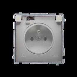 Gniazdo wtyczkowe pojedyncze w wersji IP44 -  klapka w kolorze transparentnym satynowy, metalizowany 16A-253840