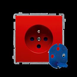 Gniazdo wtyczkowe pojedyncze DATA z kluczem uprawniającym czerwony 16A-253855
