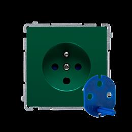 Gniazdo wtyczkowe pojedyncze DATA z kluczem uprawniającym zielony 16A-253856
