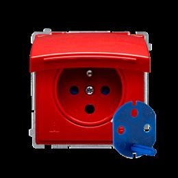 Gniazdo wtyczkowe pojedyncze DATA do wersji IP44 z kluczem uprawniającym czerwony 16A-253862