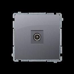 Gniazdo antenowe R-TV końcowe separowane inox, metalizowany-253960