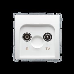 Gniazdo antenowe R-TV przelotowe tłum.:10dB biały-253910