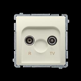 Gniazdo antenowe R-TV przelotowe tłum.:10dB beżowy-253911