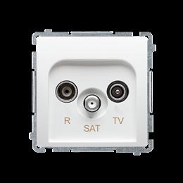 Gniazdo antenowe R-TV-SAT przelotowe tłum.:10dB biały-253952