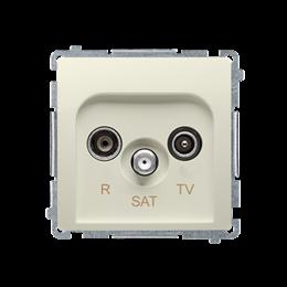 Gniazdo antenowe R-TV-SAT przelotowe tłum.:10dB beżowy-253953