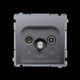 Gniazdo antenowe R-TV-SAT przelotowe tłum.:10dB inox, metalizowany-253954