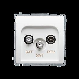 Gniazdo antenowe SAT-SAT-RTV satelitarne podwójne tłum.:1dB biały-253962