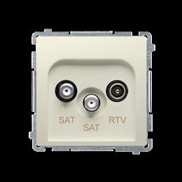Gniazdo antenowe SAT-SAT-RTV satelitarne podwójne tłum.:1dB beżowy-253963