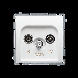 Gniazdo antenowe R-TV-DATA tłum.:10dB biały-253969