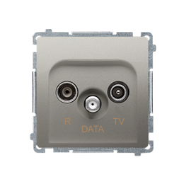 Gniazdo antenowe R-TV-DATA tłum.:10dB satynowy, metalizowany-253972