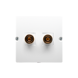 Gniazdo głośnikowe pojedyncze biały-254029