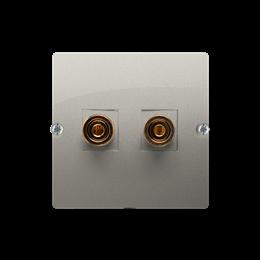 Gniazdo głośnikowe pojedyncze satynowy, metalizowany-254034