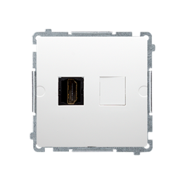Gniazdo HDMI pojedyncze biały-254037