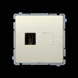 Gniazdo HDMI pojedyncze beżowy-254038