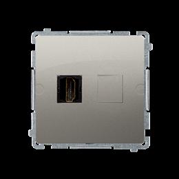 Gniazdo HDMI pojedyncze satynowy, metalizowany-254041