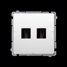 Gniazdo HDMI podwójne biały-254044