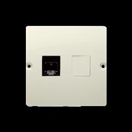Gniazdo telefoniczne pojedyncze RJ11 (moduł) beżowy-254079