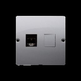 Gniazdo telefoniczne pojedyncze RJ11 (moduł) inox, metalizowany-254080