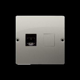 Gniazdo telefoniczne pojedyncze RJ11 (moduł) satynowy, metalizowany-254082