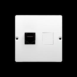 Gniazdo komputerowe pojedyncze RJ45 kategoria 5e (moduł) biały-254116