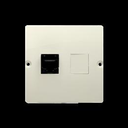 Gniazdo komputerowe pojedyncze RJ45 kategoria 5e (moduł) beżowy-254117