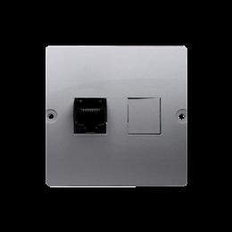 Gniazdo komputerowe pojedyncze RJ45 kategoria 5e (moduł) inox, metalizowany-254118