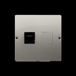 Gniazdo komputerowe pojedyncze RJ45 kategoria 5e (moduł) satynowy, metalizowany-254119