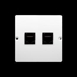 Gniazdo komputerowe podwójne RJ45 kategoria 5e (moduł) biały-254133