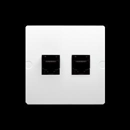 Gniazdo komputerowe RJ45 kategoria 5e + telefoniczne RJ11 (moduł) biały-254140