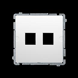 Pokrywa gniazd teleinformatycznych na Keystone płaska podwójna biały-254169