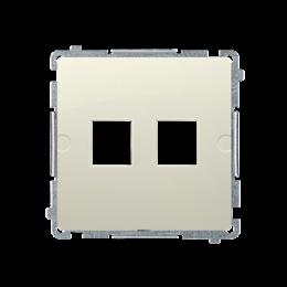 Pokrywa gniazd teleinformatycznych na Keystone płaska podwójna beżowy-254170