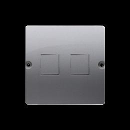 Pokrywa gniazd teleinformatycznych na Keystone płaska podwójna inox, metalizowany-254178